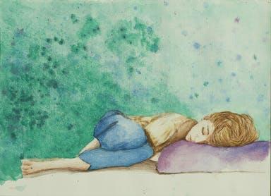 ילד ישן עם רקע ירוק.jpg