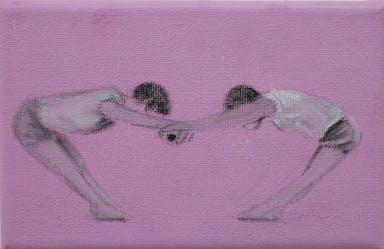 רקדניות מתמתחות, שמן עד בד, 15-10 סמ, 2020.jpg